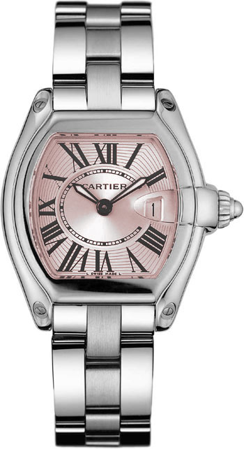 Cartier Roadster Series Stainless Steel Ladies Swiss Quartz Wristwatch-W62017V3