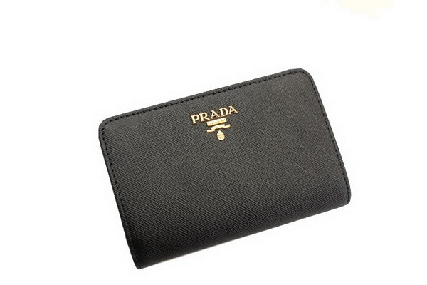 Prada Saffiano Leather Wallet 1M1225 Black