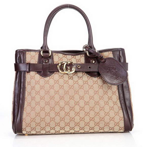 Hot Sell  Gucci GG Running Medium Tote Bags 247183 Brown