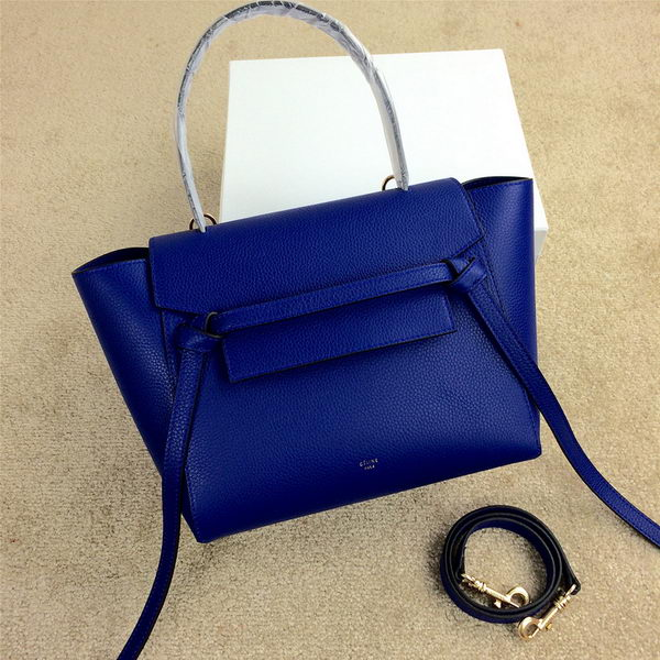 Celine mini Belt Bag Original Grainy Leather C98311 Royal