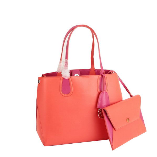 2014 Dior ADDICT Bag Two-Tone Smooth Calfskin Leather 17011 Orange