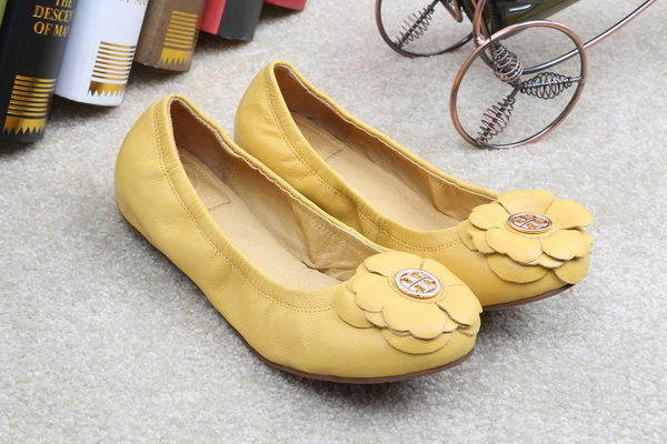 Tory Burch Ballerina Leather TB1500 Yellow