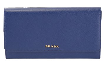 PRADA Saffiano Leather Bi-Fold Wallet 1M1311 Blue