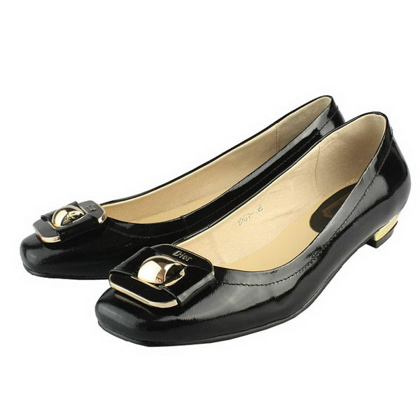 Dior Patent Leather Flat DIOR105 Black