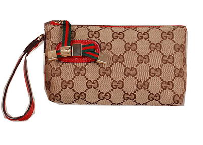 Gucci Original GG Canvas Clutch 162846 Red