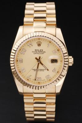 Rolex Datejust Mechanism Golden Surface Men Watch-RD2437