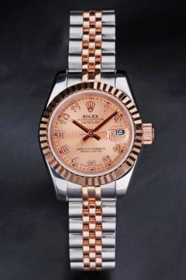 Rolex Datejust 18k Rose-Gold Plated Steel 25mm Watch-RD3754