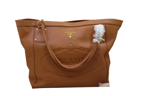 Prada Calfskin Leather Shoulder Bag BL2809 Wheat