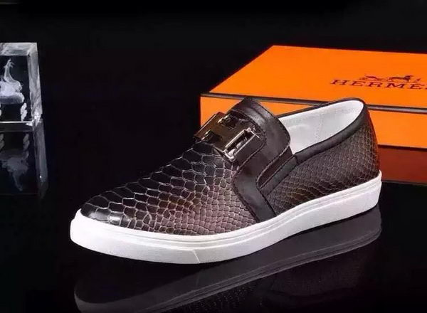 Hermes Casual Shoes Snake Leather HO0498 Brown