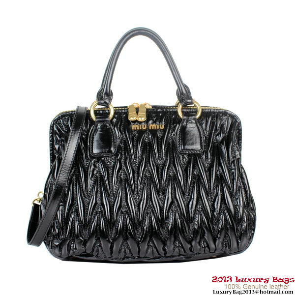 miu miu Mateleasse Top Handle Bags 88058 Black