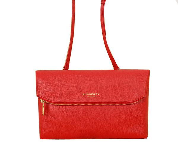 Burberry Original Leather Flap Shoulder Bag BU4221 Red