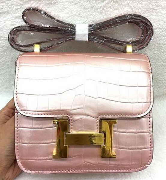 Hermes Constance Bag Croco Leather H3326 Pink