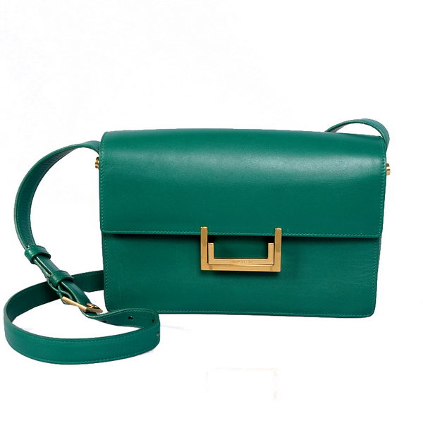 Yves Saint Laurent Lulu Bag in Original Leather 13009 Green