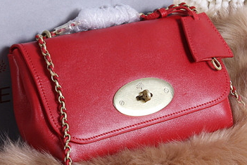 Mulberry Lily Small Grain Leather Evening Bag 7779S Red
