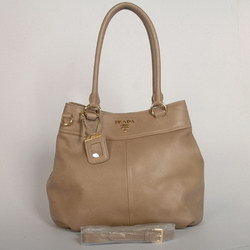 Prada Shoulder Bags Calf Leather 9632 Apricot