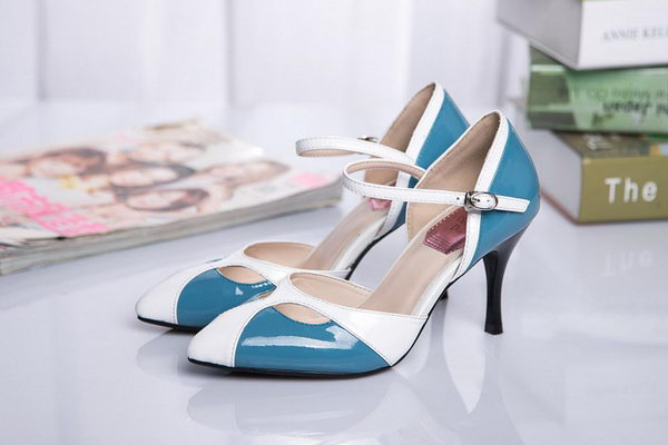 Dior Sheepskin Leather Pump D17511 Blue&White