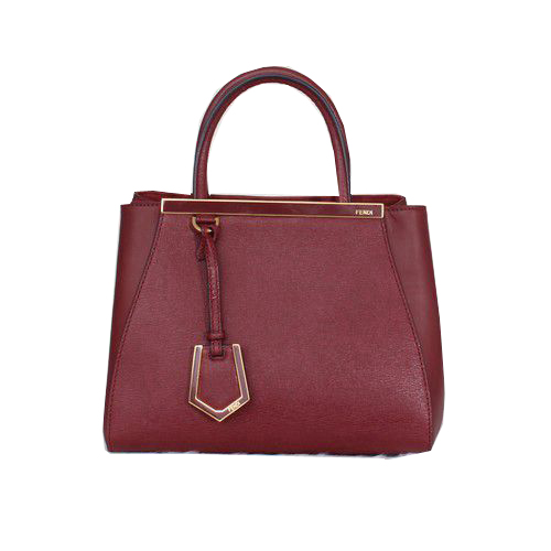 Fendi 2Jours Saffiiano Leather Tote Bag 8BM2601 Burgundy
