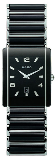 Rado Integral Series Ceramic Steel Quartz Mens Watch R20484152 in Black