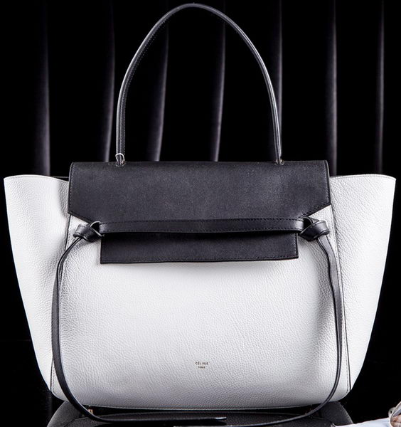 Celine Belt Bag Original Leather CL3345M White&Black