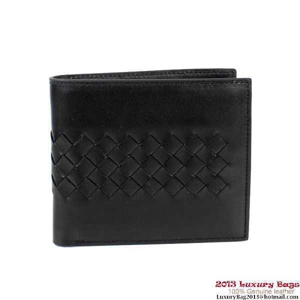 Bottega Veneta Corot Uncinetto Silk Wallet BV5021 Black