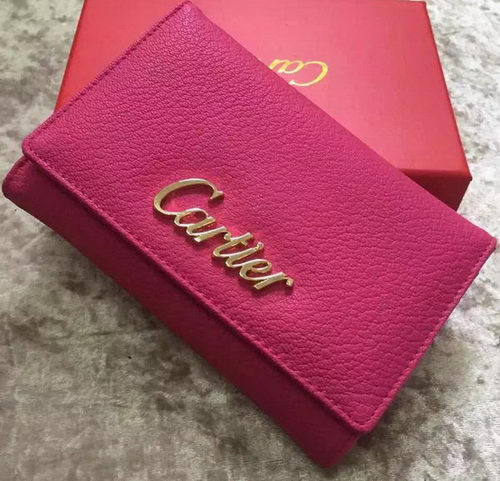 Cartier Sheepskin Leather Tri-Fold Wallet 22331 Rose