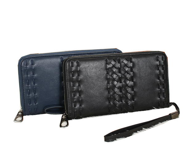 Bottega Veneta Intrecciato Nappa Zip Around Wallet BV8550
