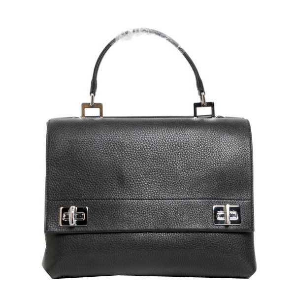 Prada Original Leather Tote Bags BN2796 Black