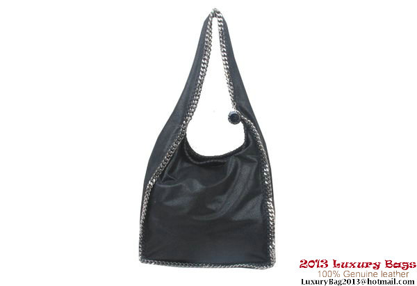 Stella McCartney Falabella Shaggy Deer Shoulder Bag Black