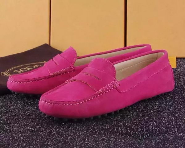 Tods Ballerina Flat Leather TO288 Rose