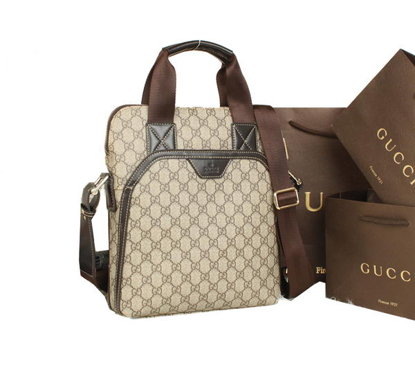 Gucci GG Supreme Canvas Tote Bag 322076 Brown