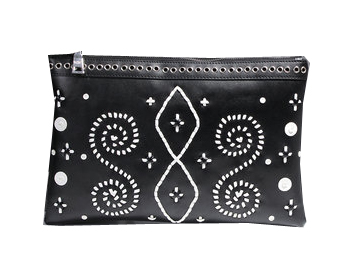 PRADA Weave Leather Clutch P58871 Black