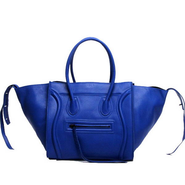 Celine Luggage Phantom Square Bags Smooth Leather 108905 Blue