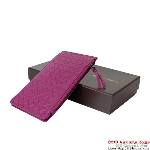Bottega Veneta Intrecciato Light Calf Card Case BV188 Purple
