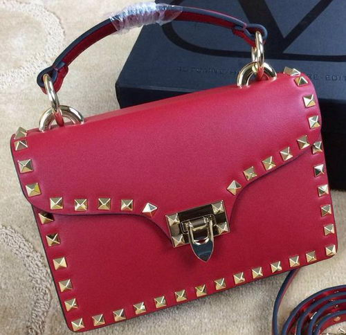 Valentino Garavani Rockstud Shoulder Bag VG19619 Red