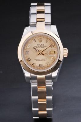 Rolex Datejust Rolex Datejust Golden Surface Stainless Steel Watch-RD3780