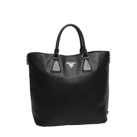 Prada Original Grainy Calf Leather Tote Bag BN2419 Black