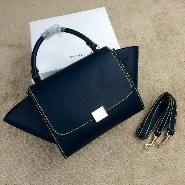 2015 Celine mini Trapeze Bag Original Leather CL005 Royal
