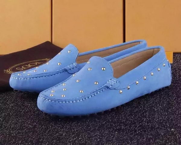 Tods Ballerina Flat Leather TO280 Blue