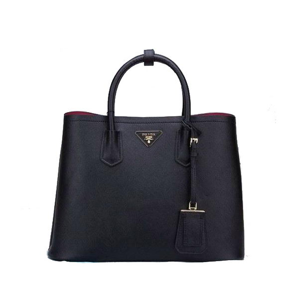 Prada BN2756 Black Saffiano Cuir Leather Tote Bag