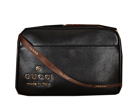 Gucci Calfskin Leather Messenger Bag 338975 Black