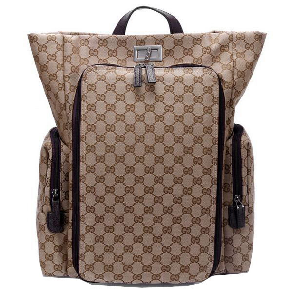 Gucci Backpack Canvas Diaper Bag 28551 Brown
