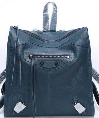 Balenciaga Backpack Royal Litchi Leather B68335 Black