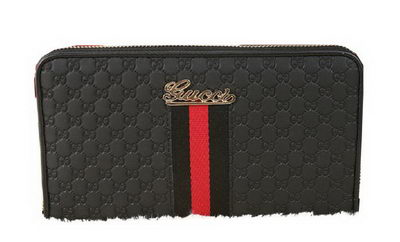 Gucci Guccissima Leather Clutch G9551 Black