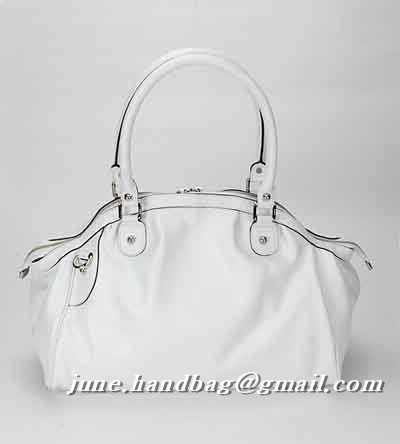 Gucci Sukey Leather Medium Boston Bag 223974 White