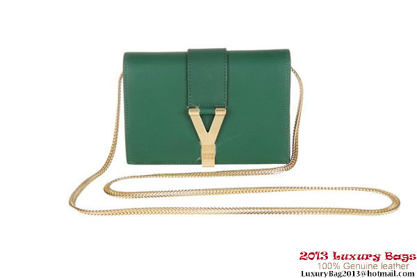 Yves Saint Laurent Chyc mini Travel Case Y0050 Green