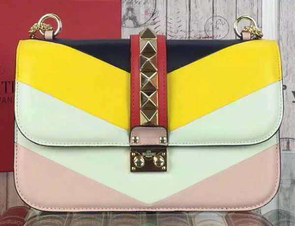 Valentino Garavani Small Chain Shoulder Bag Calfskin JW2B0312VITB Multicolour