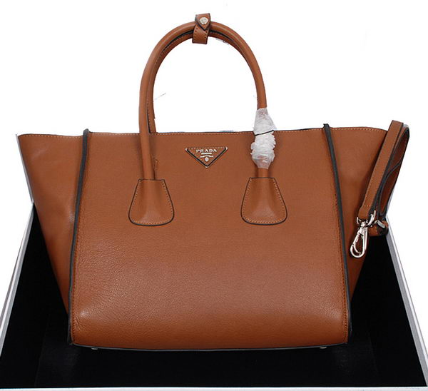 Prada Smooth Leather Tote Bag BN2619 Camel
