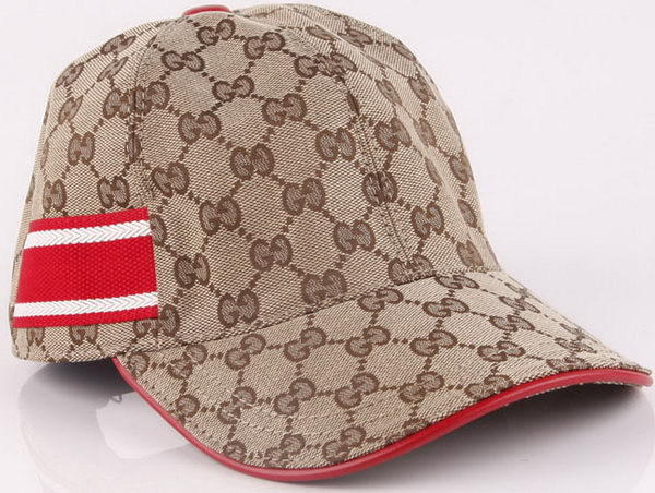Gucci Peaked Cap GG47 Brown