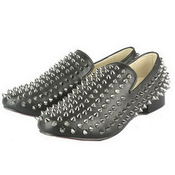 Christian Louboutin Rollerboy Sheepskin Spike Loafers Black