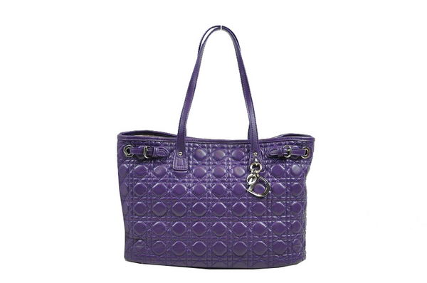 Dior Soft Tote Bag in Sheepskin D9618 Dark Purple